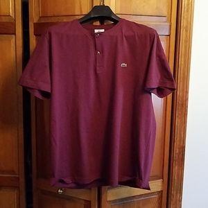 Lacoste Mens short sleeve 2 button shirt
